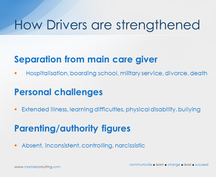 How Drivers are strengthened