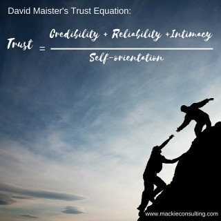 David Maister's Trust Equation